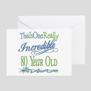 Incredible 80th Greeting Card