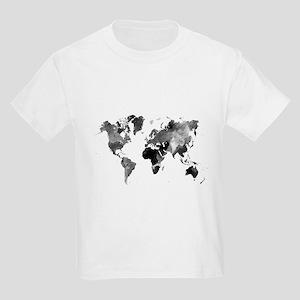 Design 42 World Map Grey Scale T-Shirt