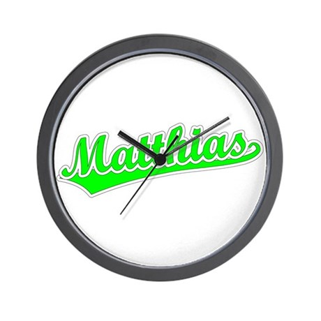Retro Matthias (Green) Wall Clock