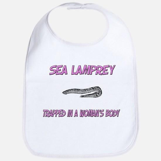 Sea Lamprey Trapped In A Woman's Body Bib