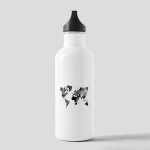 Design 42 World Map Gr Stainless Water Bottle 1.0L