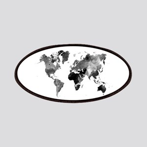 World map patches cafepress design 42 world map grey scale patch gumiabroncs Images