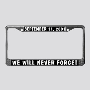 9/11 License Plate Frame