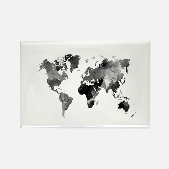 Design 42 World Map Grey Scale Magnets