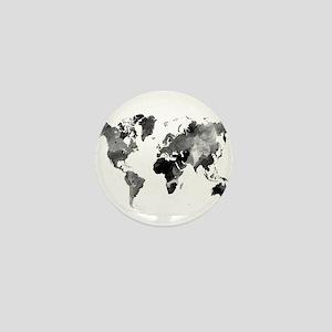Design 42 World Map Grey Scale Mini Button