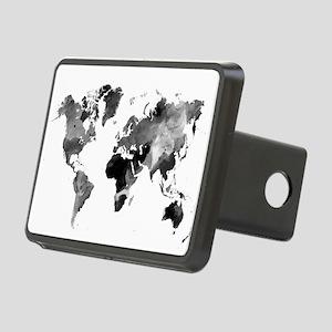 Design 42 World Map Grey S Rectangular Hitch Cover