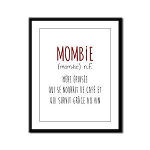 Mombie Framed Panel Print