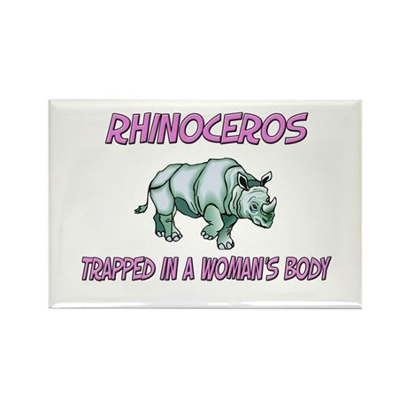 Rhinoceros Trapped In A Woman's Body Rectangle Mag