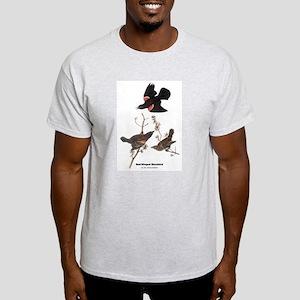 Audubon Red-Winged Blackbird (Front) Light T-Shirt