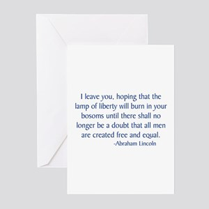 Lincoln 1 Greeting Cards (Pk of 10)