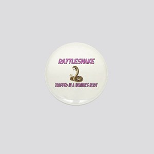 Rattlesnake Trapped In A Woman's Body Mini Button