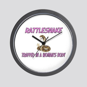 Rattlesnake Trapped In A Woman's Body Wall Clock