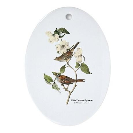 Audubon White-Throated Sparrow Oval Ornament