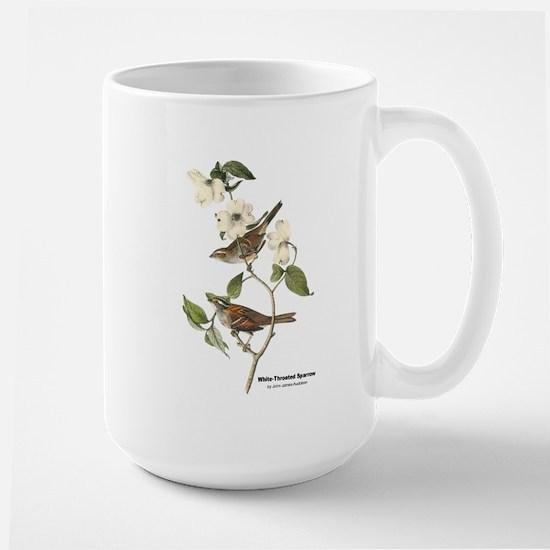Audubon White-Throated Sparrow Large Mug