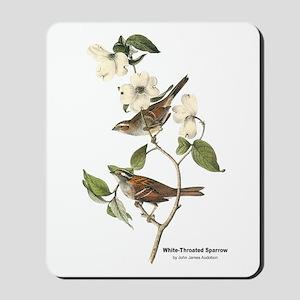 Audubon White-Throated Sparrow Mousepad