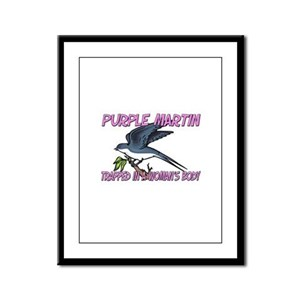 Purple Martin Trapped In A Woman's Body Framed Pan