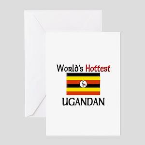 World's Hottest Ugandan Greeting Card