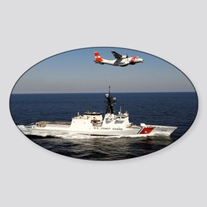 coast guard Oval Sticker
