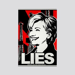 Clinton: LIES Rectangle Magnet