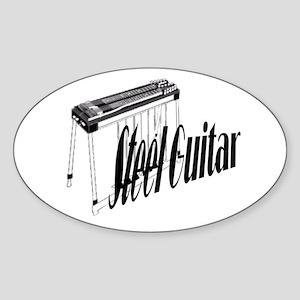 Steel Guitar Oval Sticker