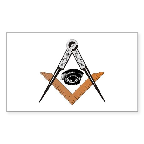 Square and Compass with all seeing eye Sticker (Re