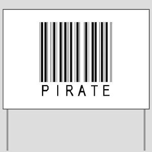 Pirate Barcode Yard Sign