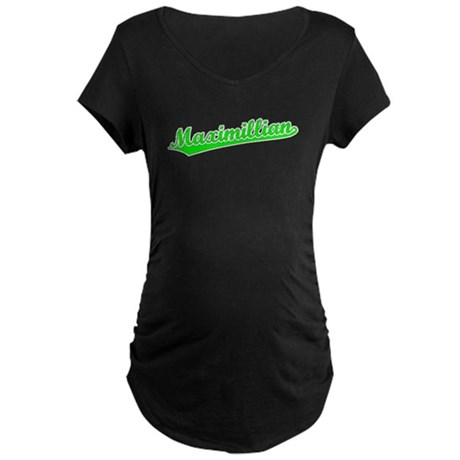Retro Maximillian (Green) Maternity Dark T-Shirt