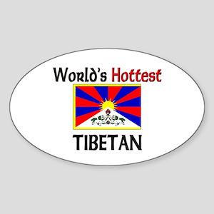 World's Hottest Tibetan Oval Sticker