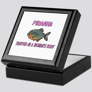 Piranha Trapped In A Woman's Body Keepsake Box