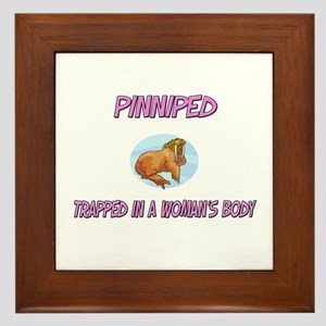 Pinniped Trapped In A Woman's Body Framed Tile