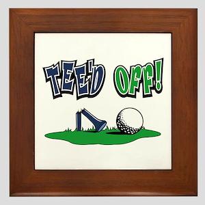 Funny Golf Gifts Framed Tile