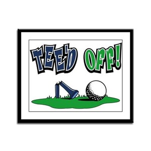 Funny Golf Gifts Framed Panel Print