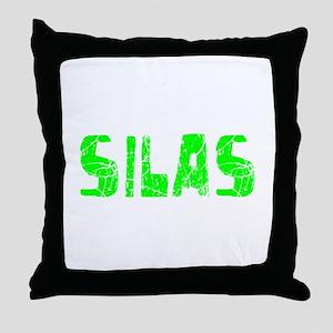 Silas Faded (Green) Throw Pillow