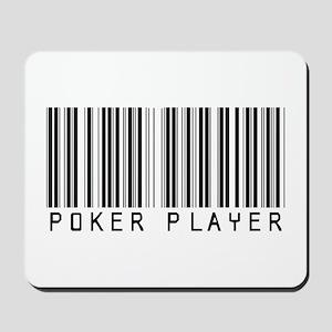 Poker Player Barcode Mousepad
