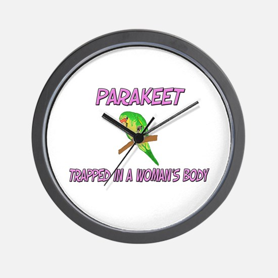 Parakeet Trapped In A Woman's Body Wall Clock