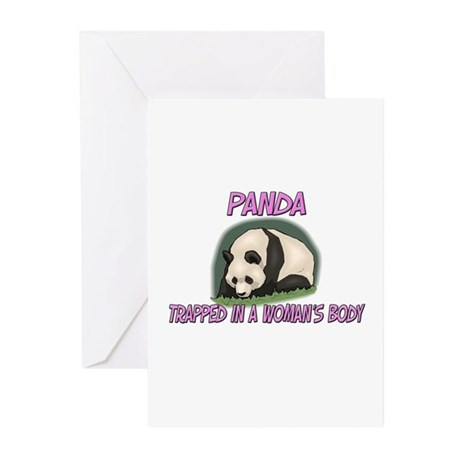 Panda Trapped In A Woman's Body Greeting Cards (Pk