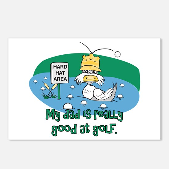 Dad's Golf Gifts Postcards (Package of 8)