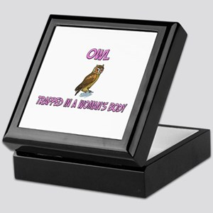 Owl Trapped In A Woman's Body Keepsake Box