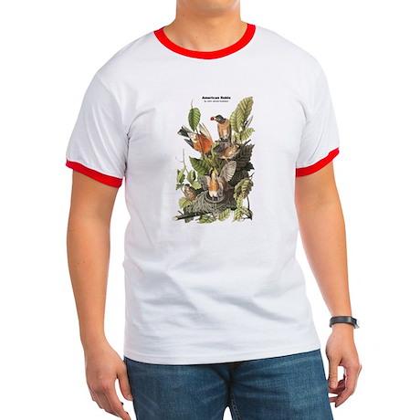 Audubon American Robin Birds Ringer T