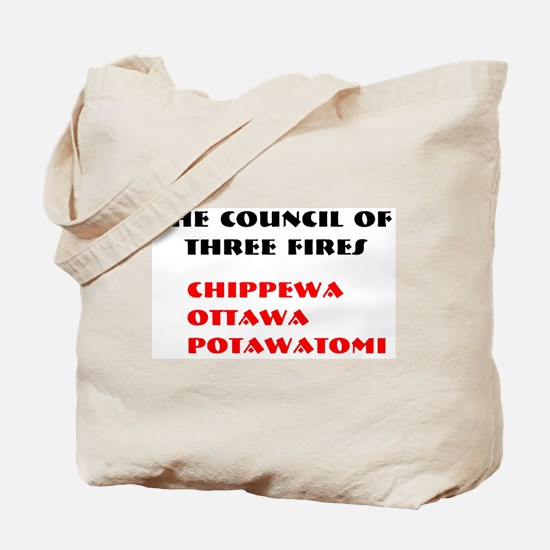 THREE FIRES Tote Bag