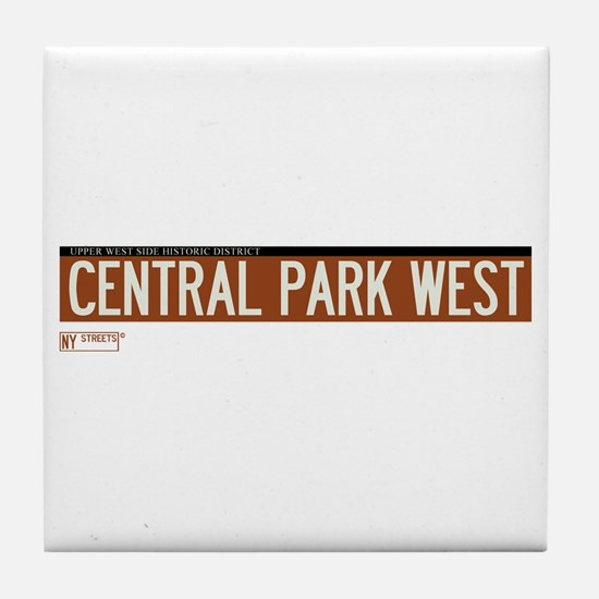 Central Park West in NY Tile Coaster