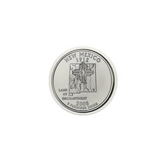 2008 New Mexico State Quarter Mini Button (100 pac