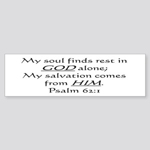 MY SOUL FINDS REST IN GOD ALO Bumper Sticker