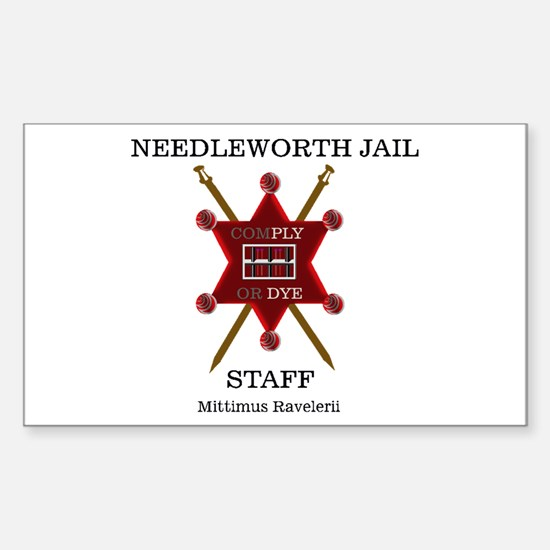 Needleworth Jail Rectangle Decal