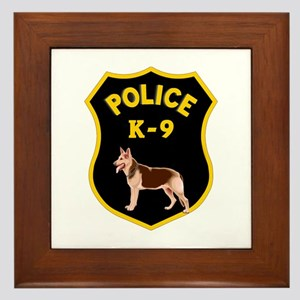 K9 Police Officers Framed Tile