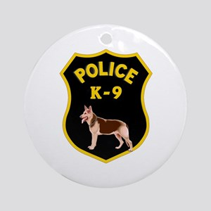 K9 Police Officers Ornament (Round)