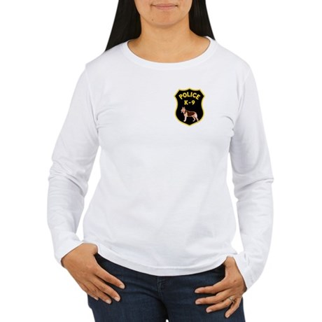 K9 Police Officers Women's Long Sleeve T-Shirt