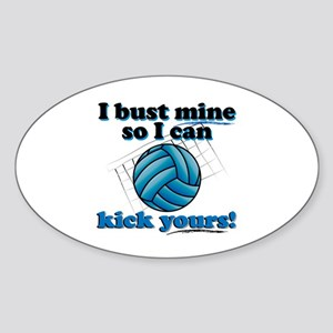 Bust Mine Vball Oval Sticker