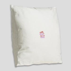 what happens at mamaws Burlap Throw Pillow