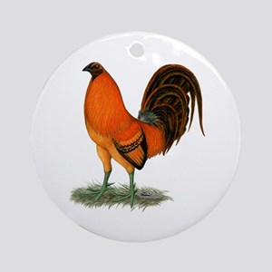 Gamecock Ginger Red Rooster Round Ornament